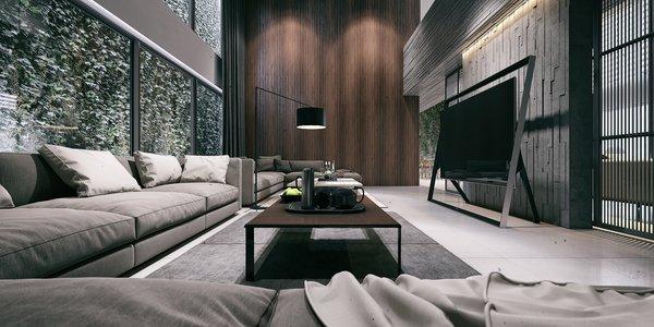 Living Room  Photo 4 of Monochrome Veil modern home