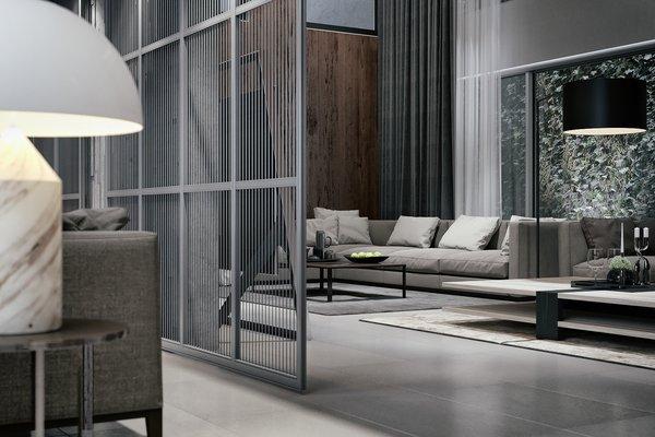Living Room  Photo 5 of Monochrome Veil modern home