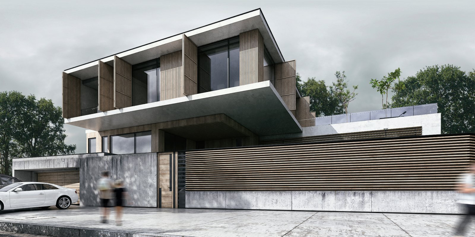 Day View of Villa  Monochrome Veil by Lines Design Creation and Consultancy