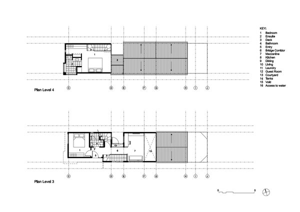 Level 3 and Level 4 Plan Photo 3 of The Narrow House modern home