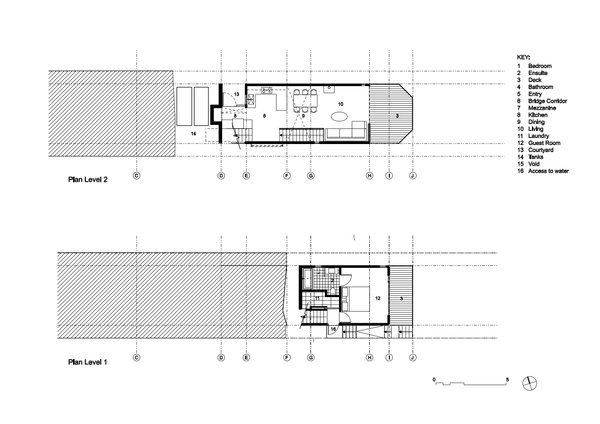 Level 1 and Level 2 Plan Photo 5 of The Narrow House modern home