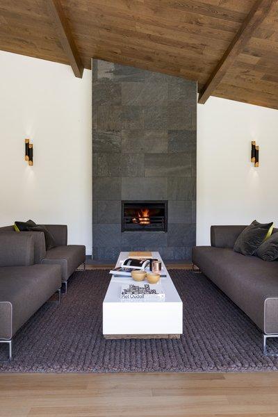 Oak clad ceiling Photo 6 of Birdham modern home