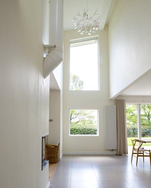 Double height hallway Photo 8 of Birdham modern home