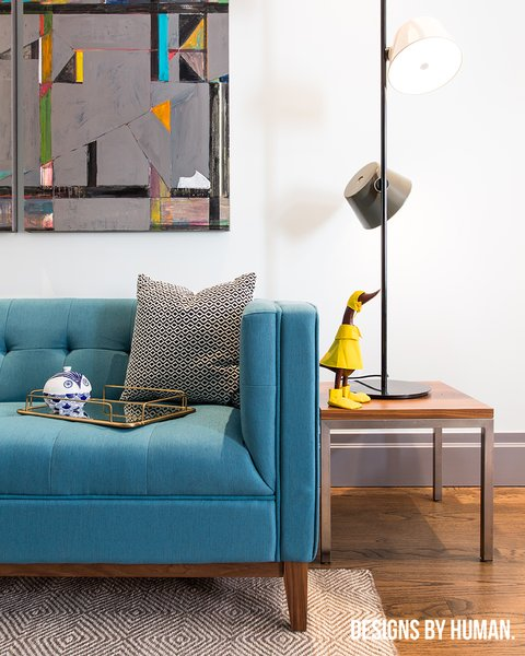 Gus Modern sofa against clean walls. Photo 4 of East Harlem Residence modern home