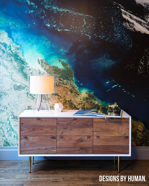 Customized dresser with geographical mural. Photo 13 of East Harlem Residence modern home