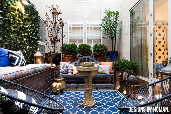 Modern home with outdoor, small patio, porch, deck, trees, garden, shrubs, and landscape lighting. Photo 7 of Washington Square Park Eclectic Home