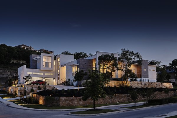 FRONT FACADE NIGHT VIEW Photo  of WONG HOUSE modern home