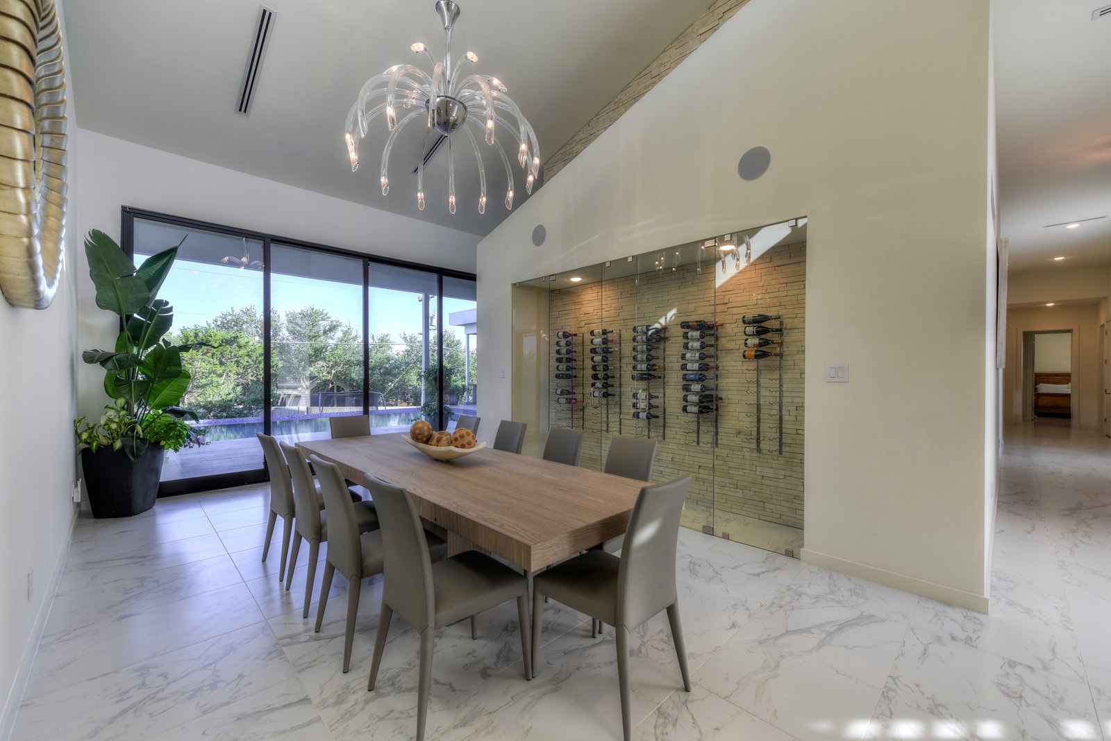 DINING ROOM - WINE  ORVANANOS HOUSE by OSCAR E FLORES DESIGN STUDIO