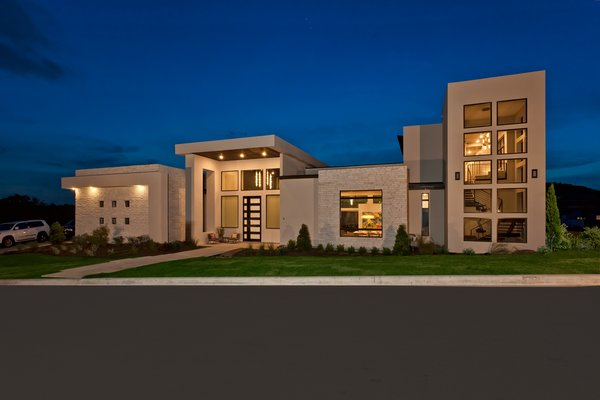 FRONT FACADE NIGHT VIEW Photo 4 of BHAKTA HOUSE modern home
