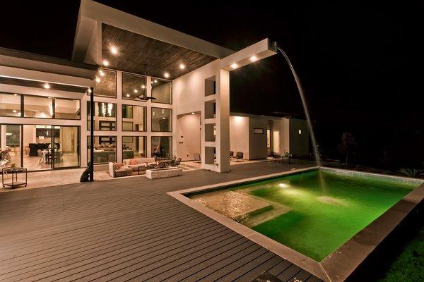 REAR FACADE NIGHT VIEW Photo 14 of BHAKTA HOUSE modern home