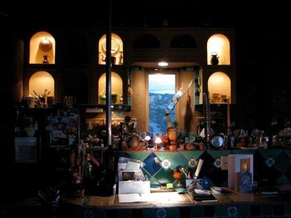 Kitchen Photo 3 of Picture Rock Studio-Round Strawbale Home design & built by Glen Neff modern home