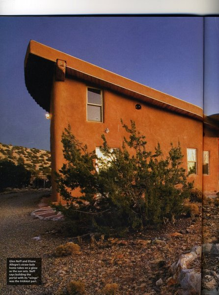 One page from New Mexico Magaine Photo 15 of Picture Rock Studio-Round Strawbale Home design & built by Glen Neff modern home