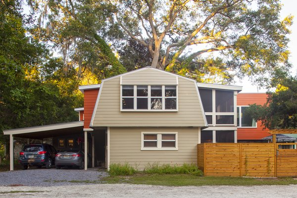 Original House in Green with addition in Orange Photo 5 of Jolly Bay Addition modern home