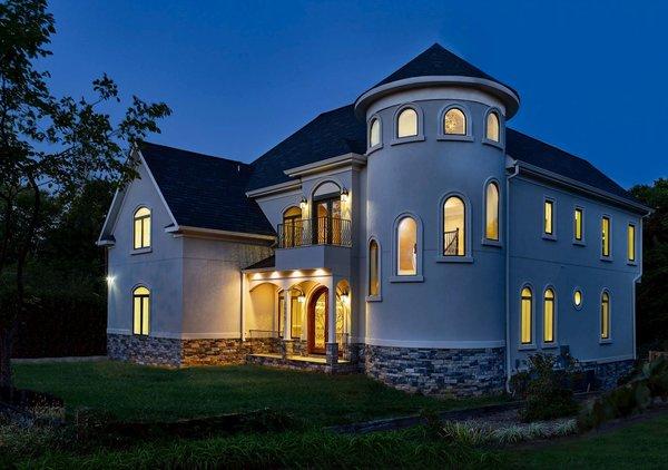 Photo 4 of NEW International Stone & Stucco FOUR level newly built manor on Historic Arlington Ridge Road modern home