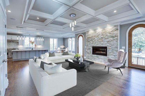 Photo 6 of NEW International Stone & Stucco FOUR level newly built manor on Historic Arlington Ridge Road modern home