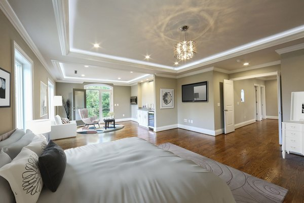 Photo 9 of NEW International Stone & Stucco FOUR level newly built manor on Historic Arlington Ridge Road modern home