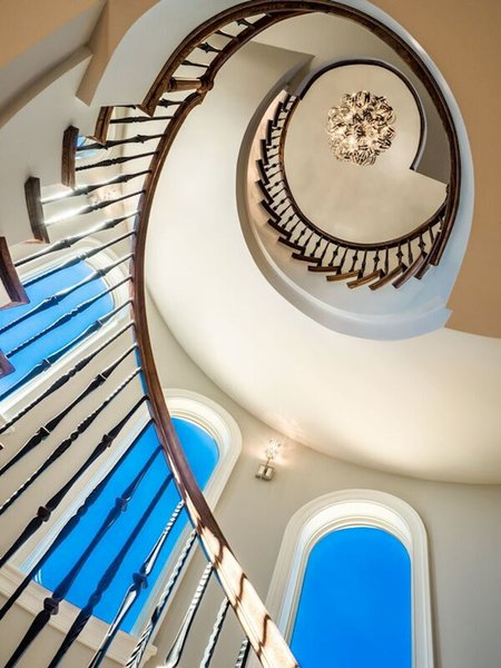 Photo 10 of NEW International Stone & Stucco FOUR level newly built manor on Historic Arlington Ridge Road modern home