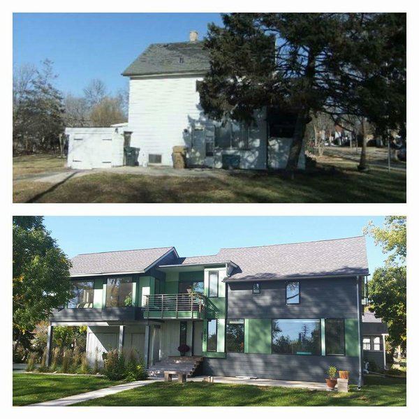 Before and after  Photo  of Green Ribbon House modern home