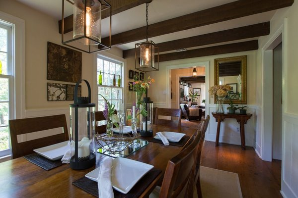 Cozy Dining, Foyer Pass Through Photo 3 of The Salt Box modern home