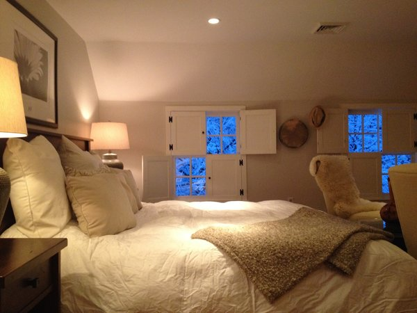 Cozy Bedroom, Four Piece shutters Photo 8 of The Salt Box modern home