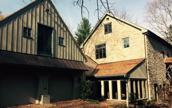 Bucks County Stone Barn fully restored.  Circa 1745.  Cedar Shake Roof. Photo 2 of The Fleecydale Barn modern home
