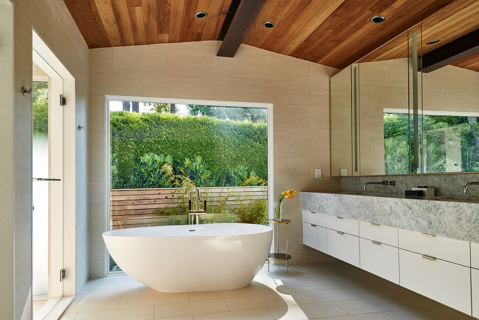 Mid-century, master bathroom