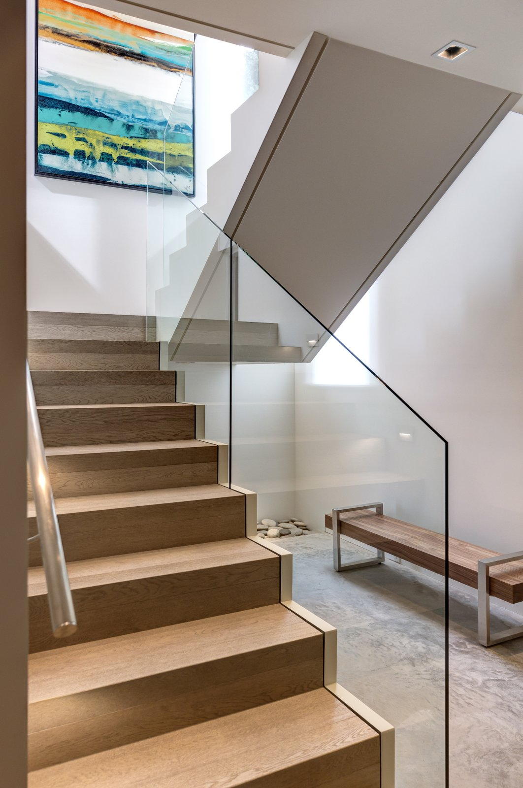 Garden Wall Residence, modern staircase  Garden Wall Residence by Garret Cord Werner