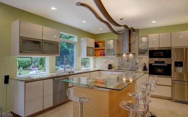 Gourmet Eat In Kitchen Photo  of Scotch Plains Contemporary modern home