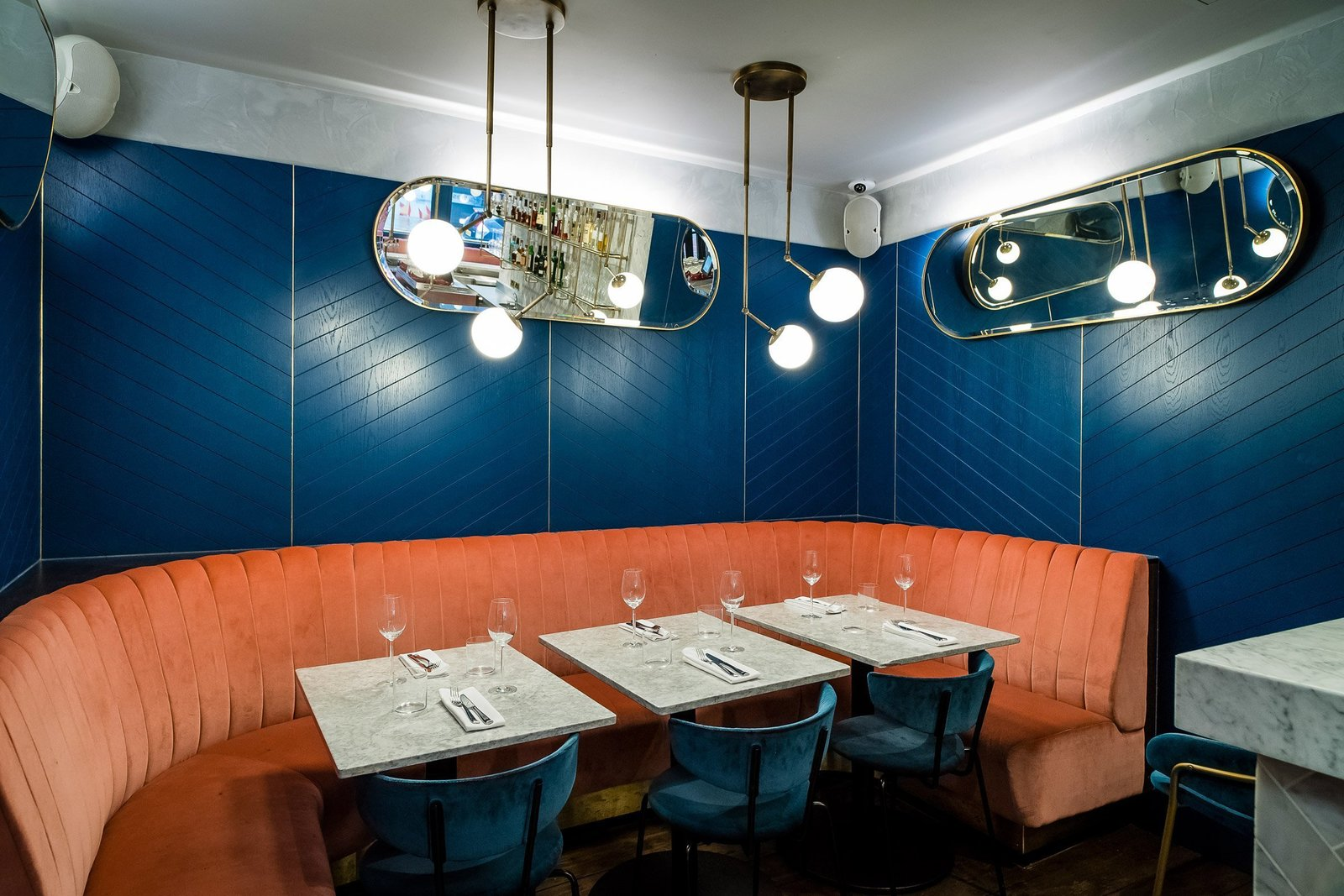 Photo 6 of 8 in A New Velvet- and Brass-Filled Restaurant That's Housed in a 19th-Century London Warehouse