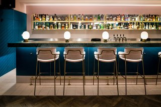A New Velvet- and Brass-Filled Restaurant That's Housed in a 19th-Century London Warehouse - Photo 6 of 7 -
