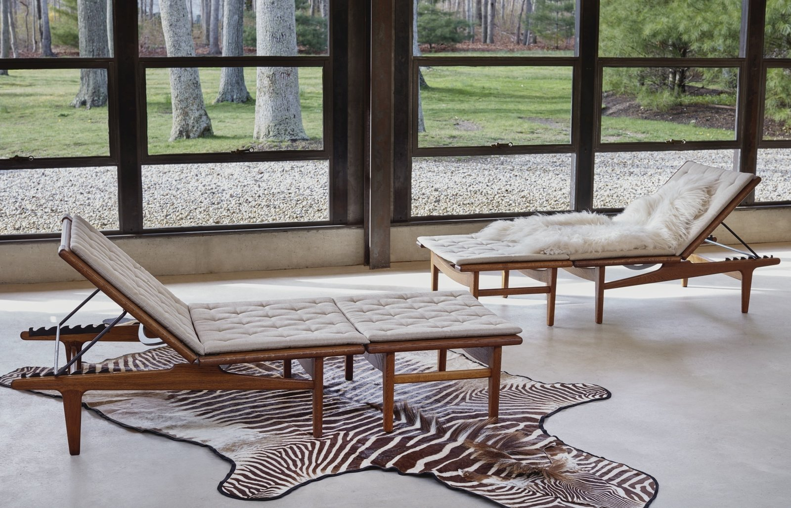 Hans Wegner, Pair of Adjustable Lounge Chairs With Ottomans, Estimate $5,000–$7,000  Photo 6 of 10 in Next Week Marks Sotheby's Sale of Iconic Design Pieces From WYETH's Coveted Collection