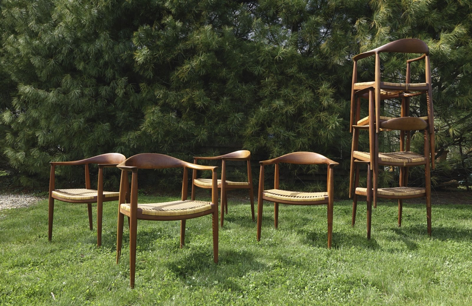 """Hans J. Wegner, Eight """"Round"""" Chairs Model No. JH501, Estimate $20,000–$30,000 Next Week Marks Sotheby's Sale of Iconic Design Pieces From WYETH's Coveted Collection - Photo 10 of 10"""