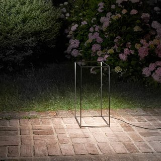 9 Ways to Create the Perfect Outdoor Lighting - Photo 7 of 9 - Mimicking a 3D sketch of a rectangular prism, Guido Bianchi and Nicoletta Rossi designed this bold light for FLOS.