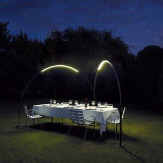 9 Ways to Create the Perfect Outdoor Lighting - Photo 9 of 9 - Jordi Vilardell and Meritxell Vidal designed this lighting structure to subtly light the perfect environment for evening dining in the garden.