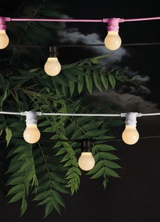 9 Ways to Create the Perfect Outdoor Lighting - Photo 4 of 9 - Though these rubber outdoor string lights by Seletti are no longer available, they may provide some inspiration for figuring out a similar effect in your outdoor space.