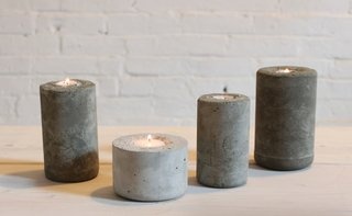 9 Ways to Create the Perfect Outdoor Lighting - Photo 1 of 9 - These industrial candleholders were made with a concrete mix that was casted in plastic water bottles. DIY designer Ben Uyeda of HomeMade Modern layered in different colors of concrete to create a fading, ombre effect.