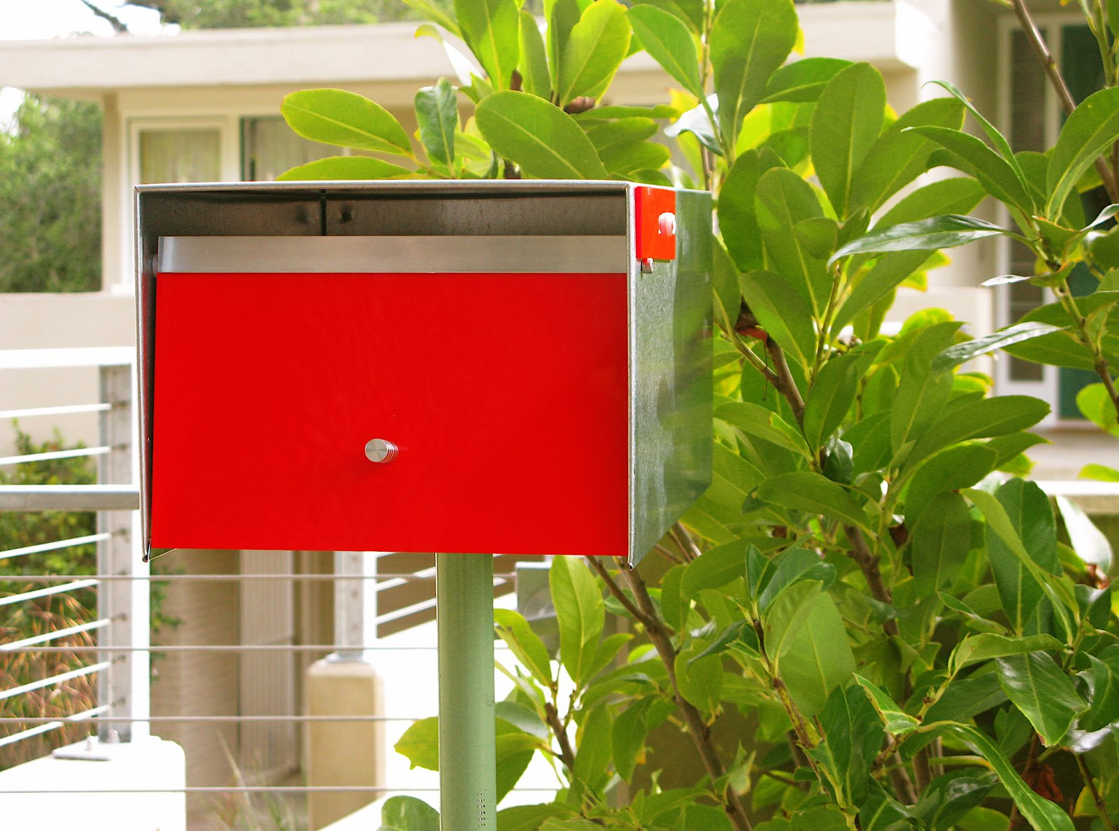 The Neutra Box is handmade from locally sourced, upcycled sheet metal remnants, reclaimed mostly from outfits in Richmond, California. The box retails for $199.00 and is available in red and black.  Photo 5 of 6 in 8 Best Modern Mailboxes to Buy