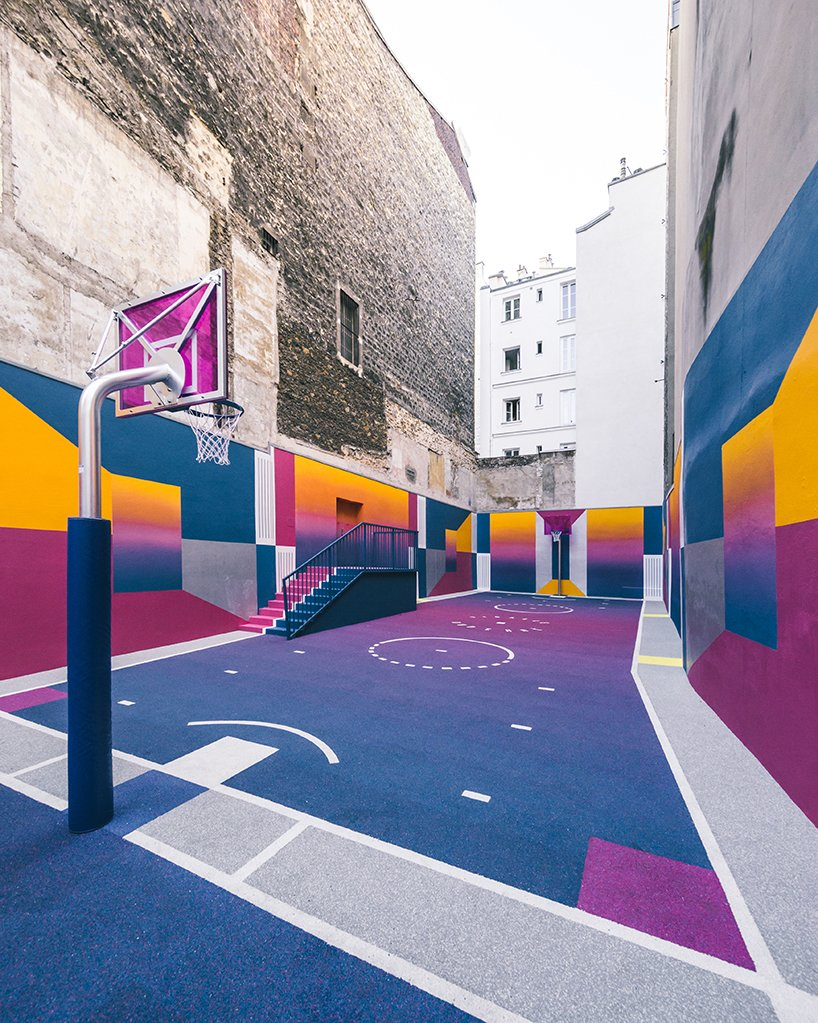 Photo 5 of 10 in A Technicolor Basketball Court in Paris