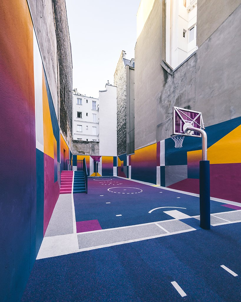 Photo 3 of 10 in A Technicolor Basketball Court in Paris