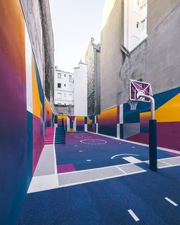 A Technicolor Basketball Court in Paris - Photo 2 of 9 -