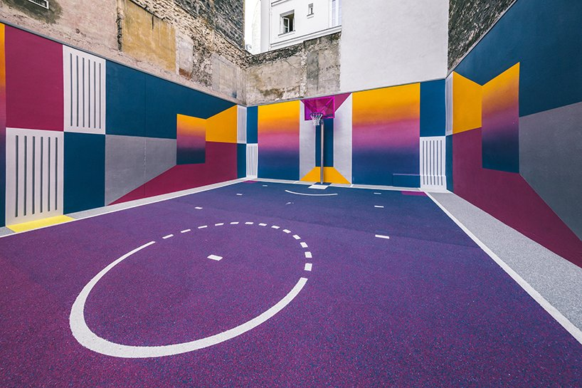 Photo 4 of 10 in A Technicolor Basketball Court in Paris