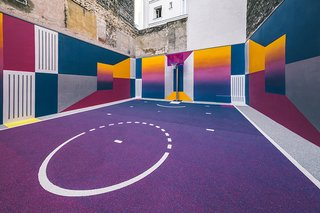 A Technicolor Basketball Court in Paris - Photo 3 of 9 -