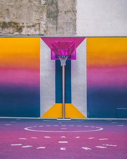 A Technicolor Basketball Court in Paris - Photo 8 of 9 -