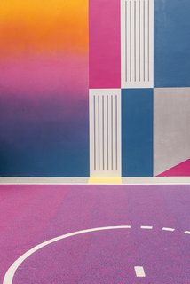 A Technicolor Basketball Court in Paris - Photo 5 of 9 -