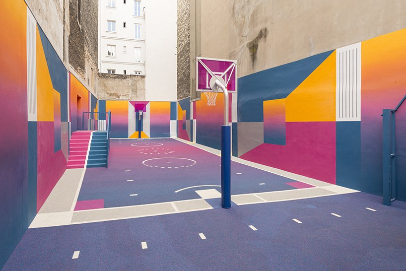 Photo 10 of 10 in A Technicolor Basketball Court in Paris