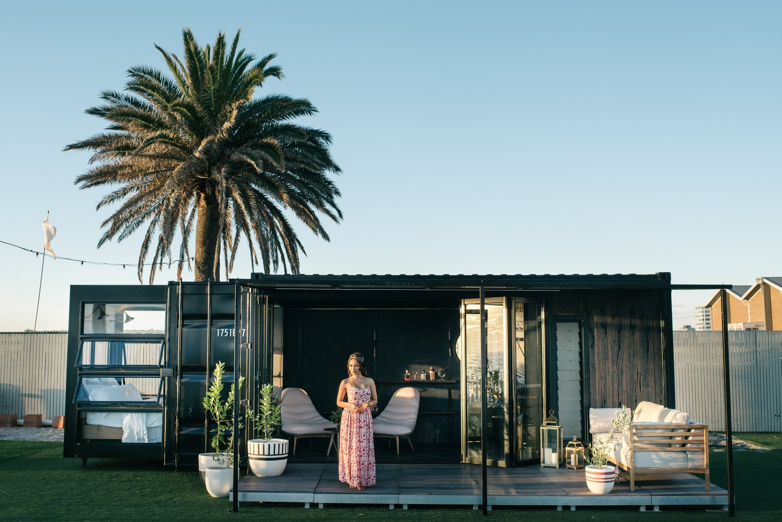 Tagged: Exterior, Shipping Container Building Type, Flat RoofLine, Metal Roof Material, Metal Siding Material, and Glass Siding Material.  Photo 1 of 9 in An Australian Firm Makes Portable Hotel Rooms Out of Shipping Containers