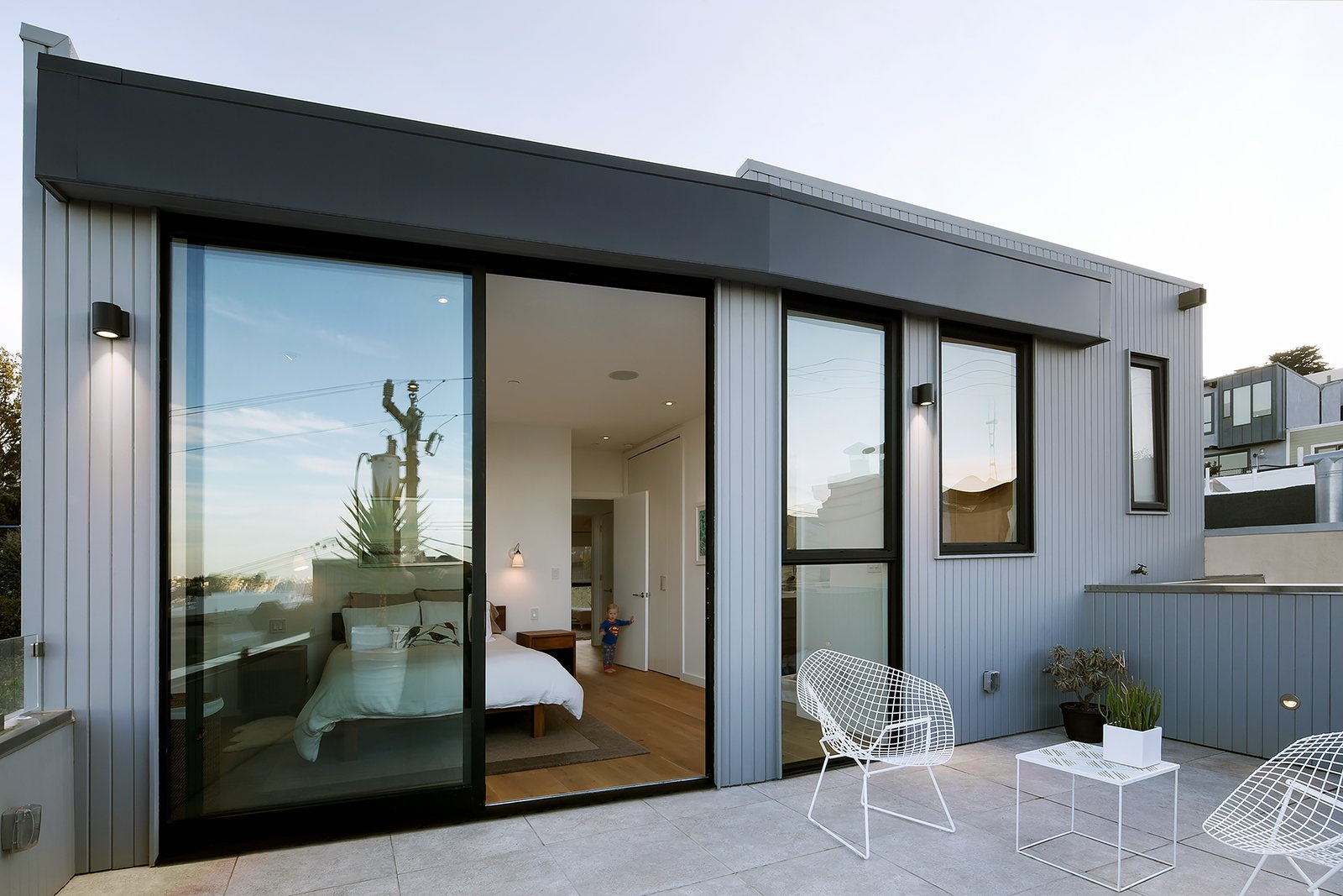 Tagged: Outdoor, Small Patio, Porch, Deck, and Concrete Patio, Porch, Deck.  Best Photos from Revamping the San Francisco Vernacular, Modern Design and Technology Serves A Busy Family