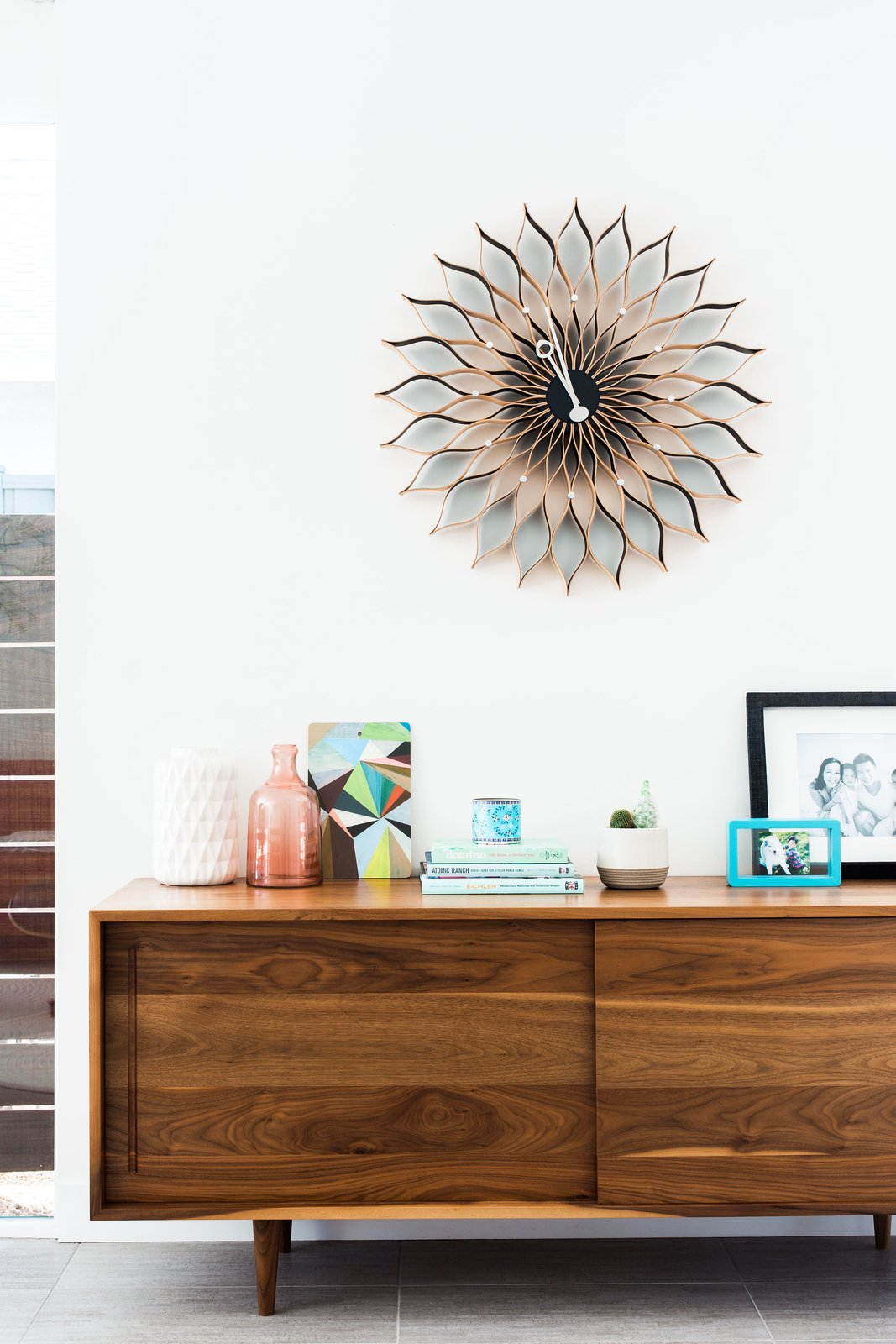 Tagged: Living Room and Console Tables.  Photo 9 of 11 in An Interior Designer Launches Her Career by Renovating Her Family's Midcentury Eichler