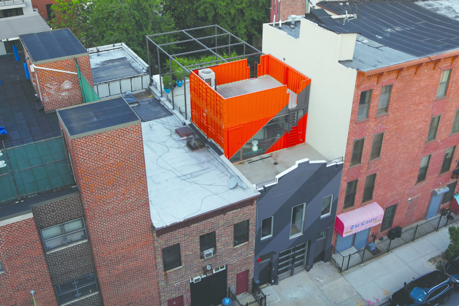 Photo 1 of 12 in A Brooklyn Carriage House Is Revamped With a Penthouse Made From Shipping Containers
