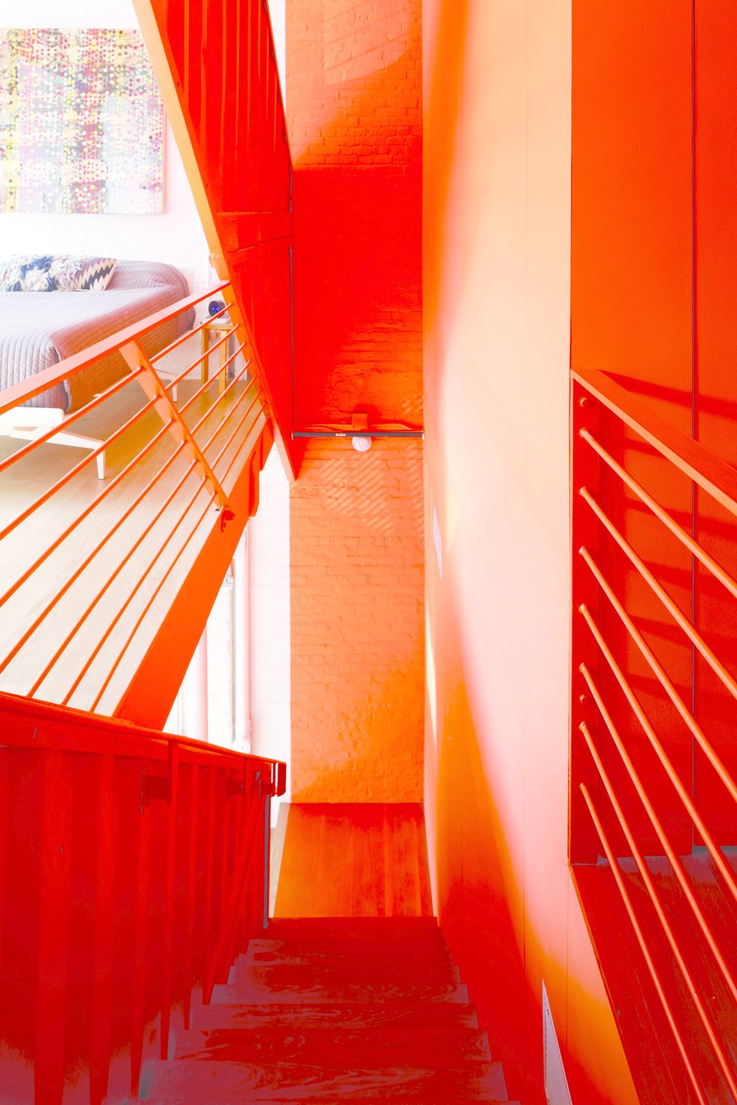 Tagged: Staircase, Metal Railing, and Metal Tread.  Photo 4 of 12 in A Brooklyn Carriage House Is Revamped With a Penthouse Made From Shipping Containers